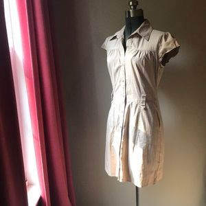 Khaki shirt-dress